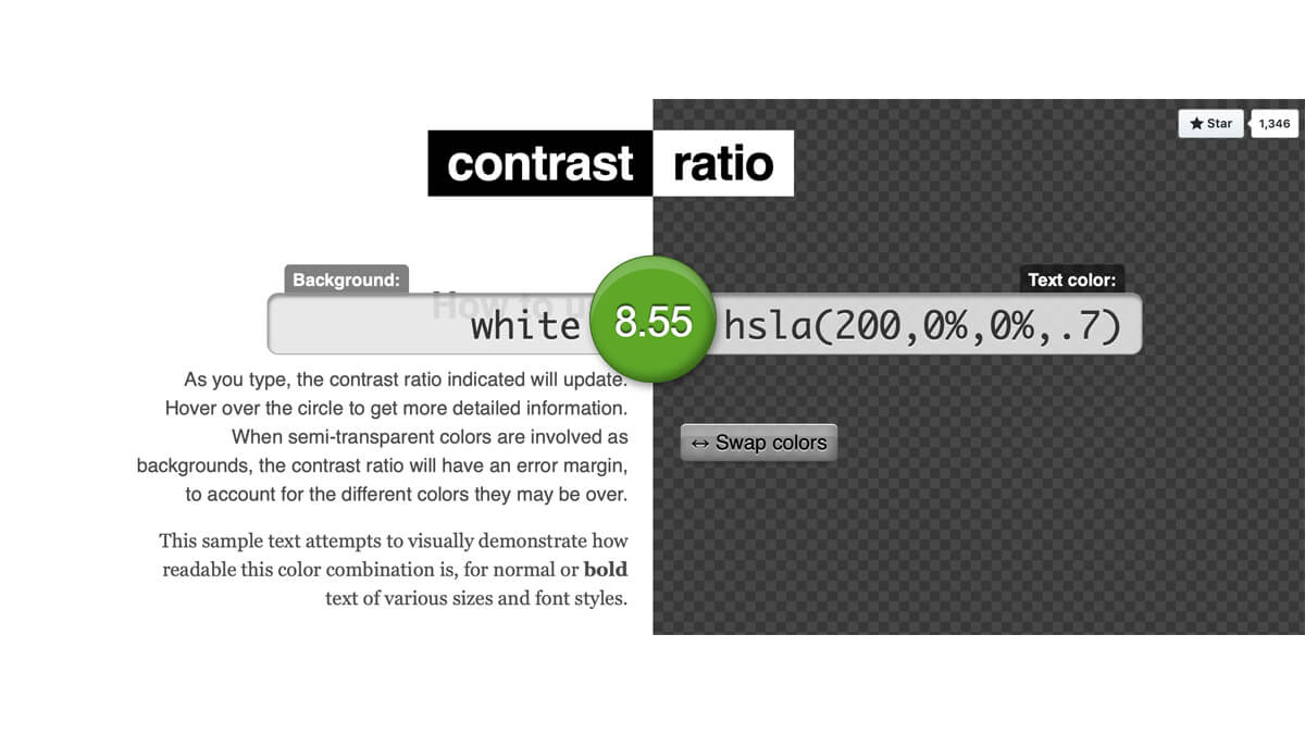 Contrast Ratio | UXPRO